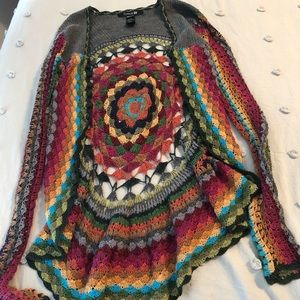 Colorful knit Forever 21 cardigan